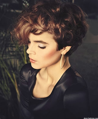 more short and curly hairstyles