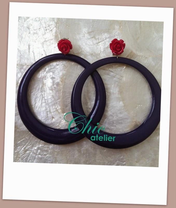 Pendientes y complementos de moda flamenca hecho a mano
