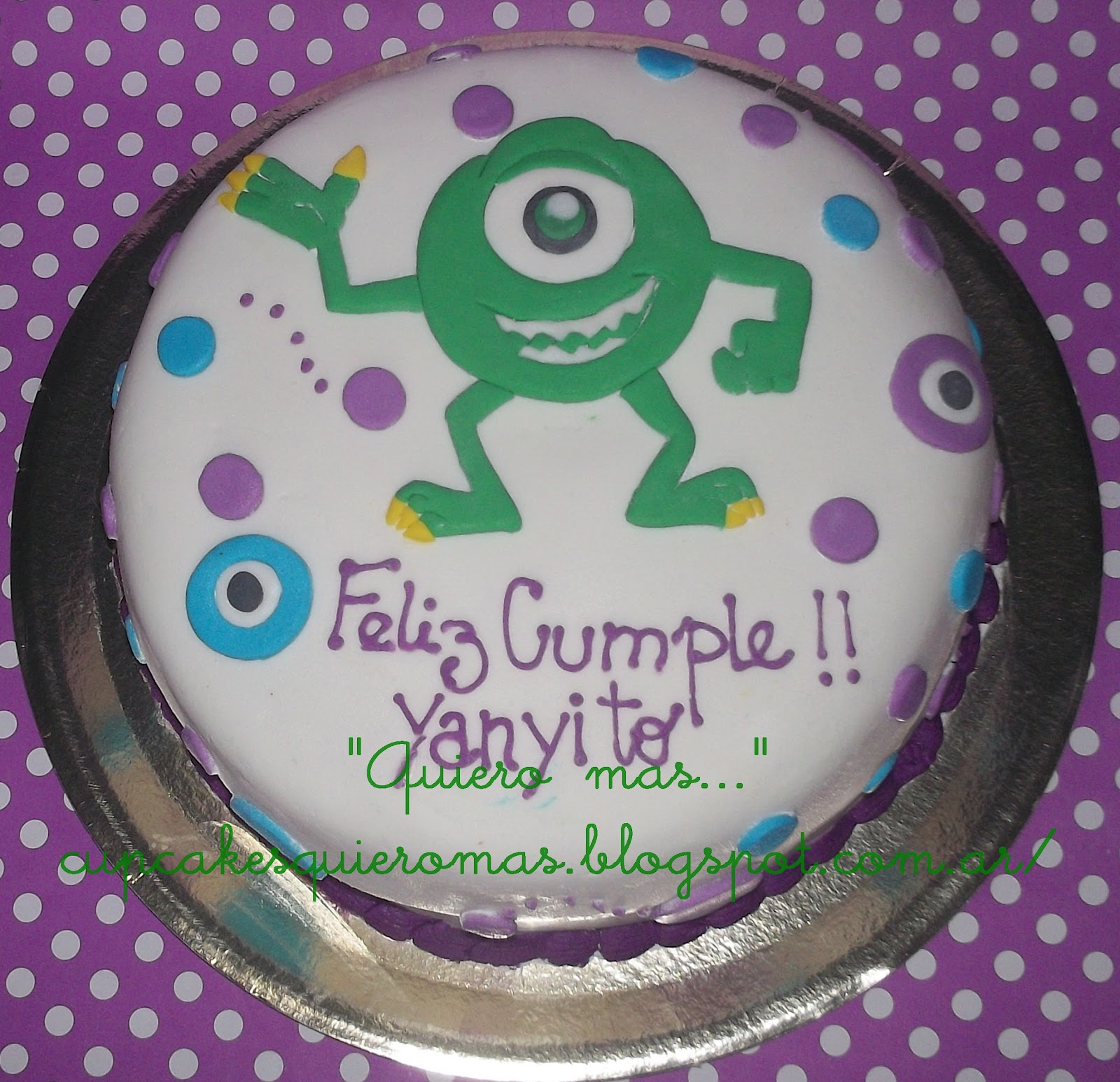Delicias Quiero mas...: Torta de Monster Inc con Mike!!!!