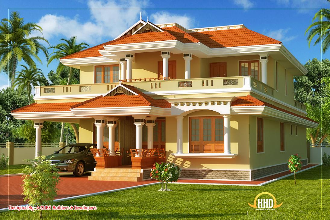 Traditional kerala style house elevation designs