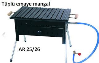 Tüplü Emaye mangal