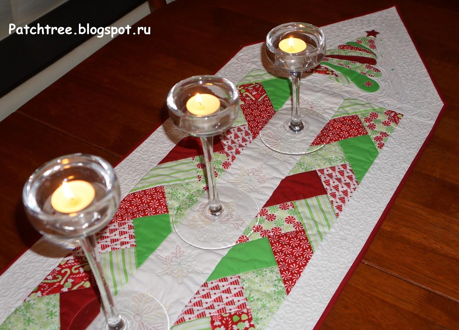 Новогодние дорожки на стол своими руками