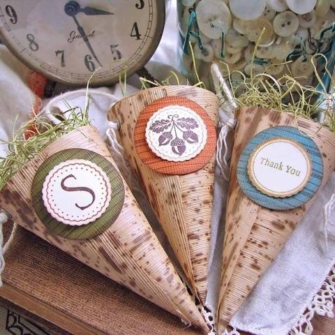 cone de papel decoração