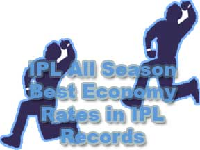 Best Economy Rates in IPL Logo, IPL Bowling Records and Logo
