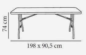alquiler de mesas plegables en granada