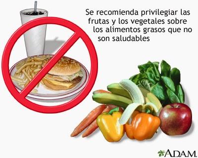 Prefiere las frutas y vegetales