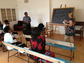 Marjorie Training Sunday School Workers at Grace Assembly
