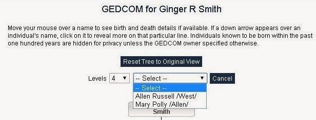 Gedcom Select Box - Allen