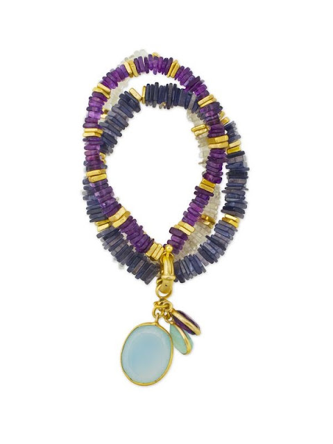 stretch bracelets, summer jewelry, purple, gemstones