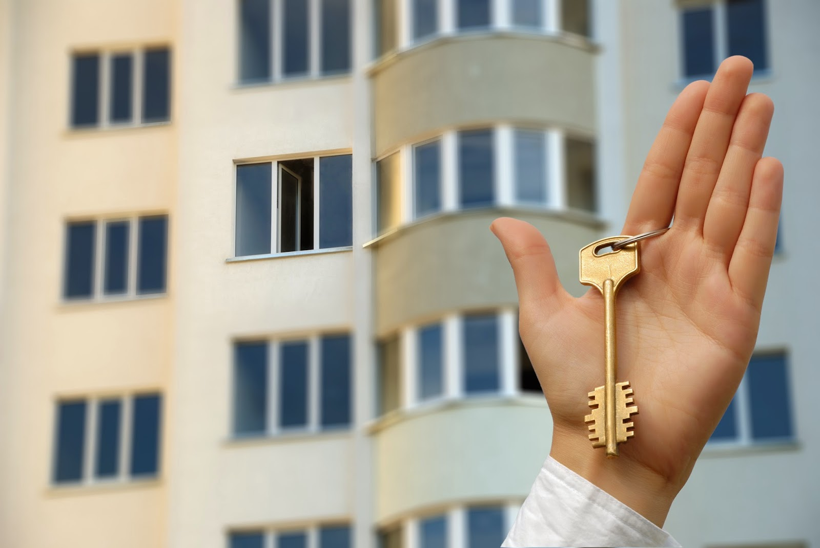 Man holding apartment master key