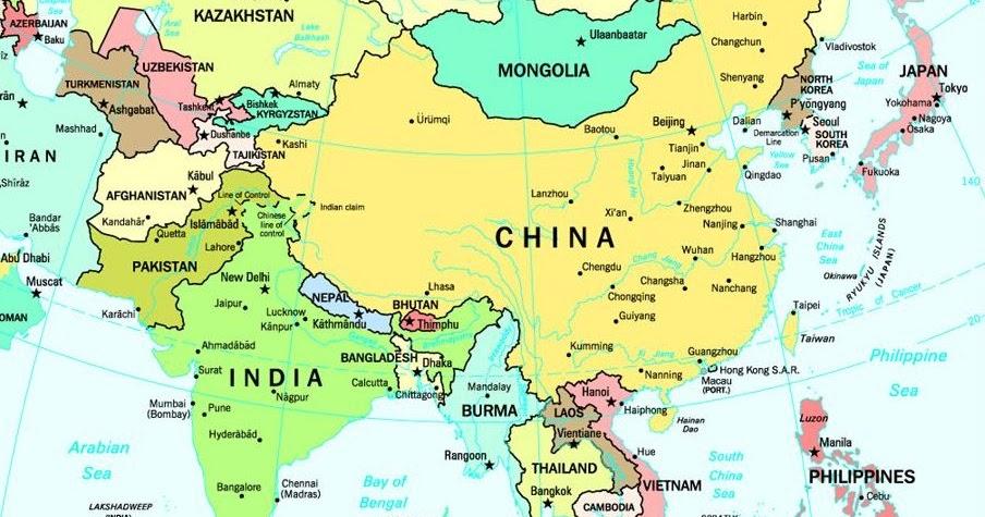 MAP MAPA DE ASIA
