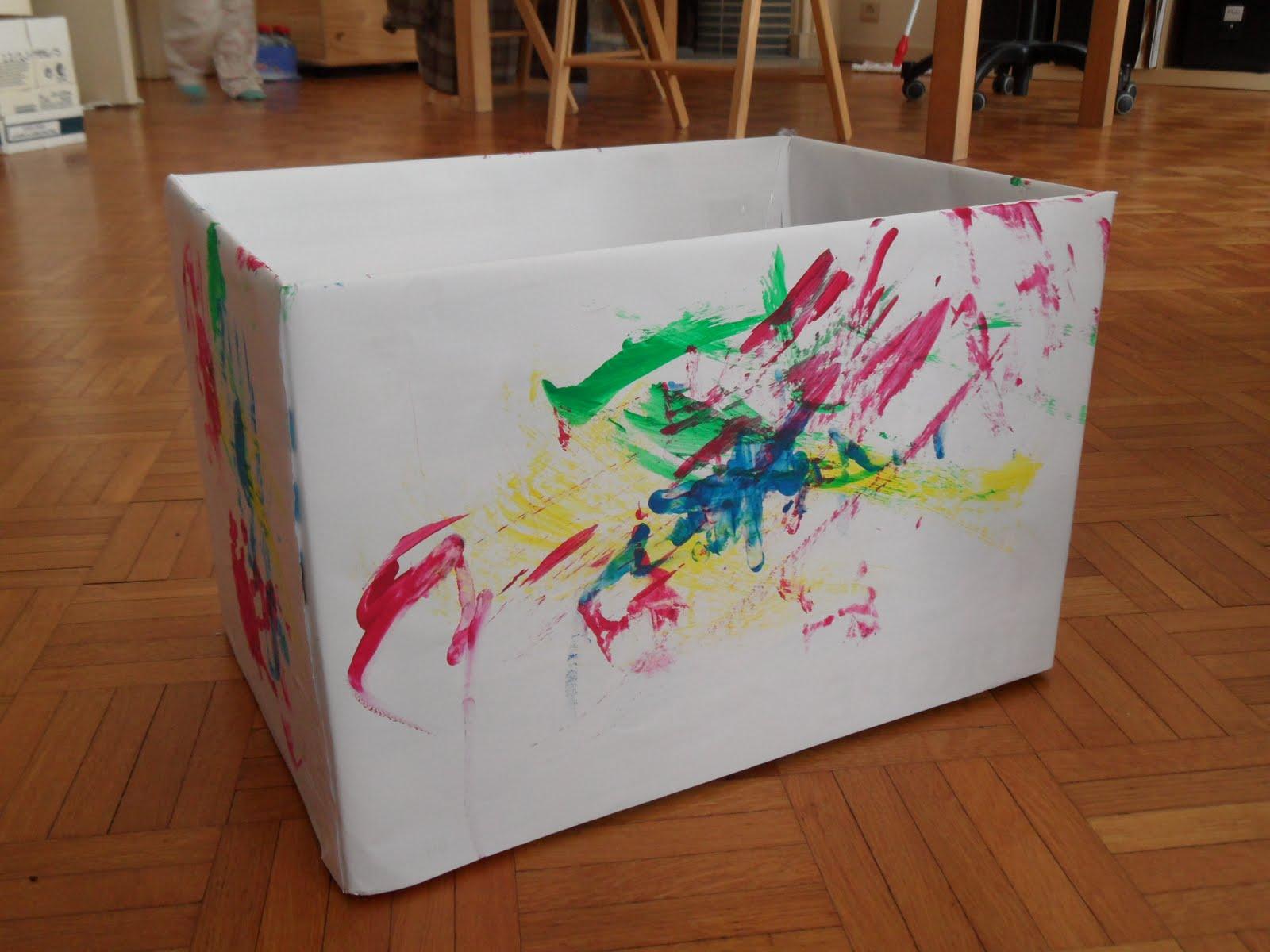 Reutilizar y crear cajas de carton de panales etc - Caja fruta decoracion ...
