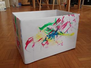 Reutilizar y crear cajas de carton de panales etc - Decorar con cajas de carton ...