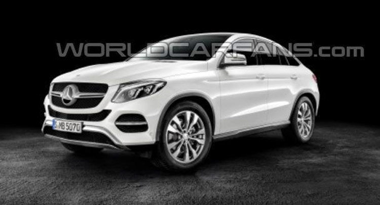 New 2016 Mercedes-Benz GLE Coupe Fully Uncovered in Leaked Photos