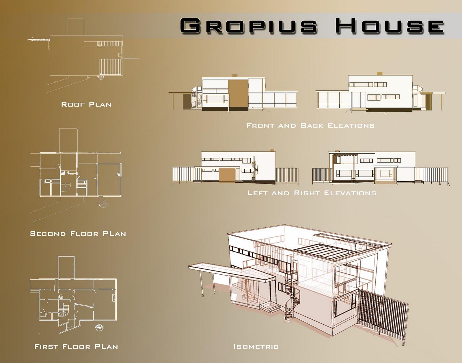 planos casa walter gropius