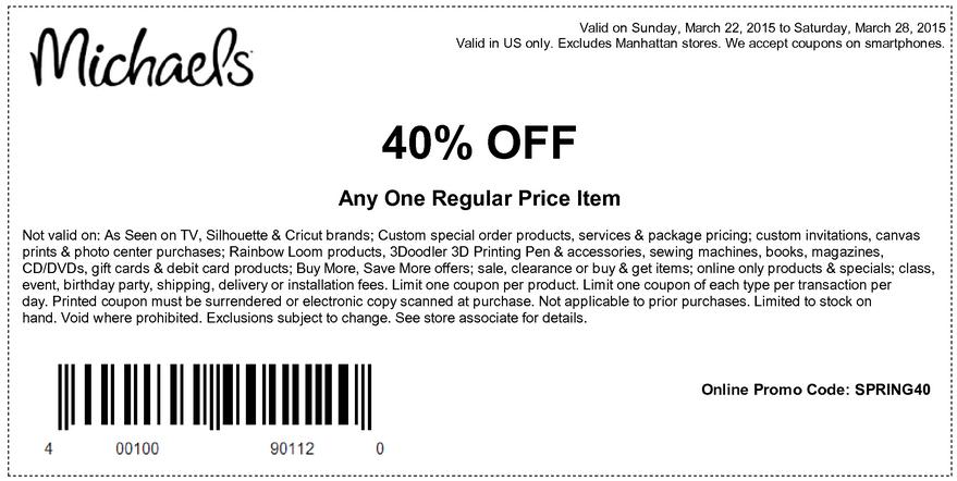 Michaels coupon may 2018