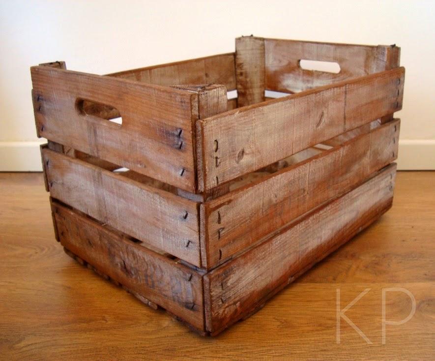 cajas de frutas limpias baratas restauradas barnizadas online vintage - Cajas De Madera De Fruta