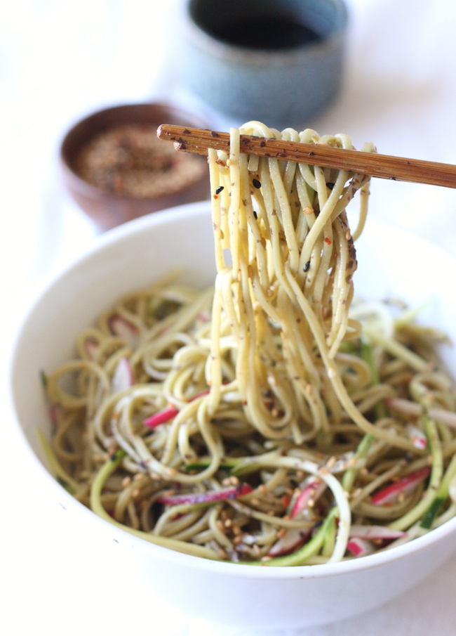 Green Tea Soba Noodle Salad recipe by SeasonWithSpice.com