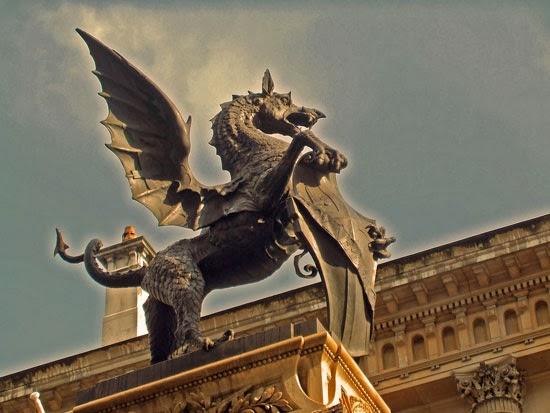 Temple Bar, dragon, Fleet Street, the Strand, London monuments.