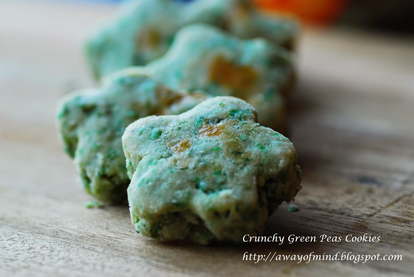 Awayofmind Bakery House: Crunchy Green Peas Cookies 香脆青豆饼