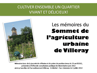 Les mémoires du Sommet de l'agriculture urbaine de Villeray