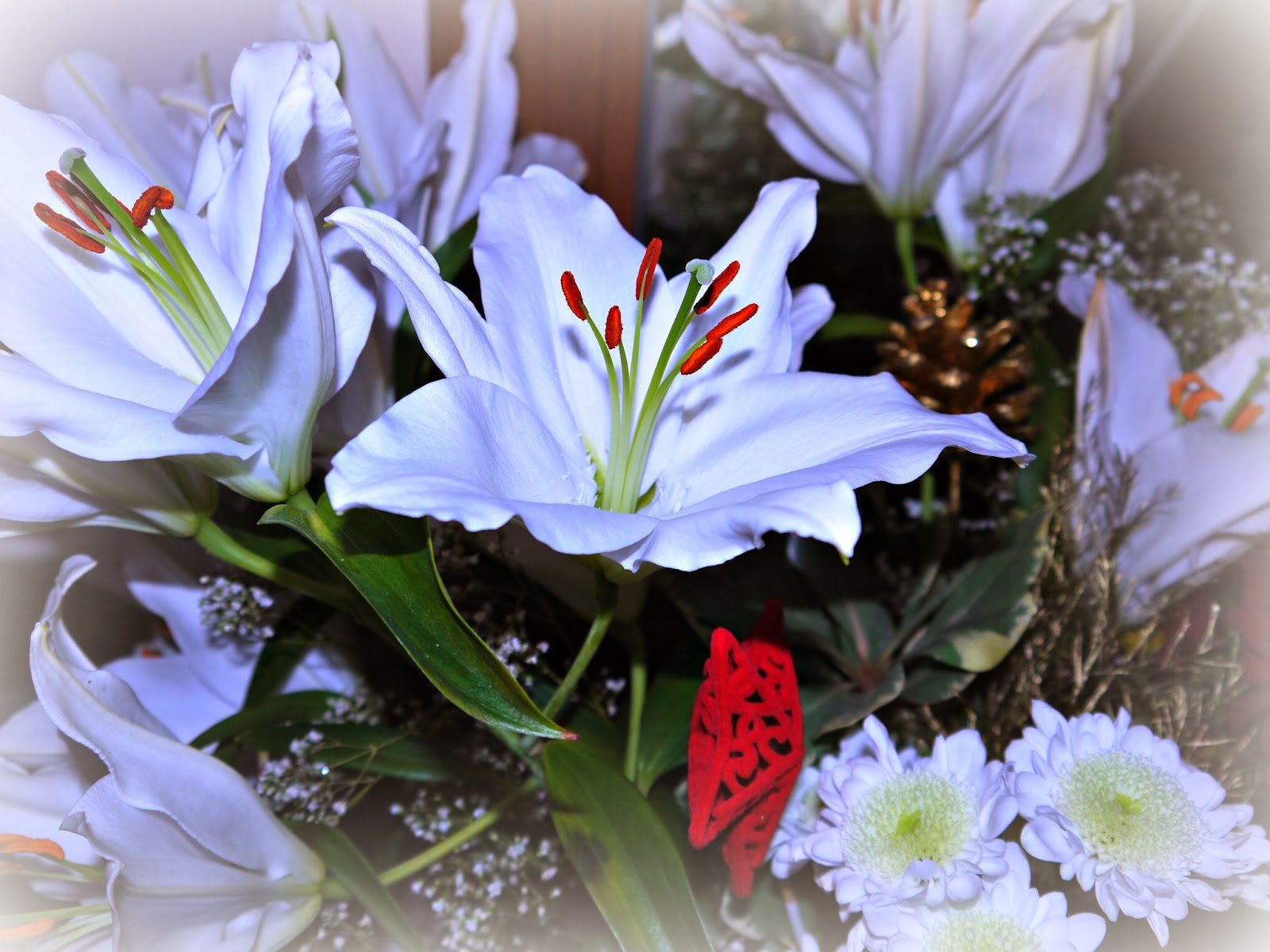 flowers, bouquet, Christmas