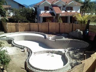 piscina concretada