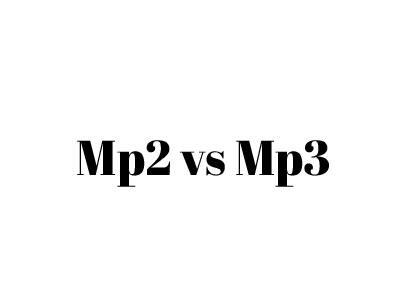 mp2 vs mp3