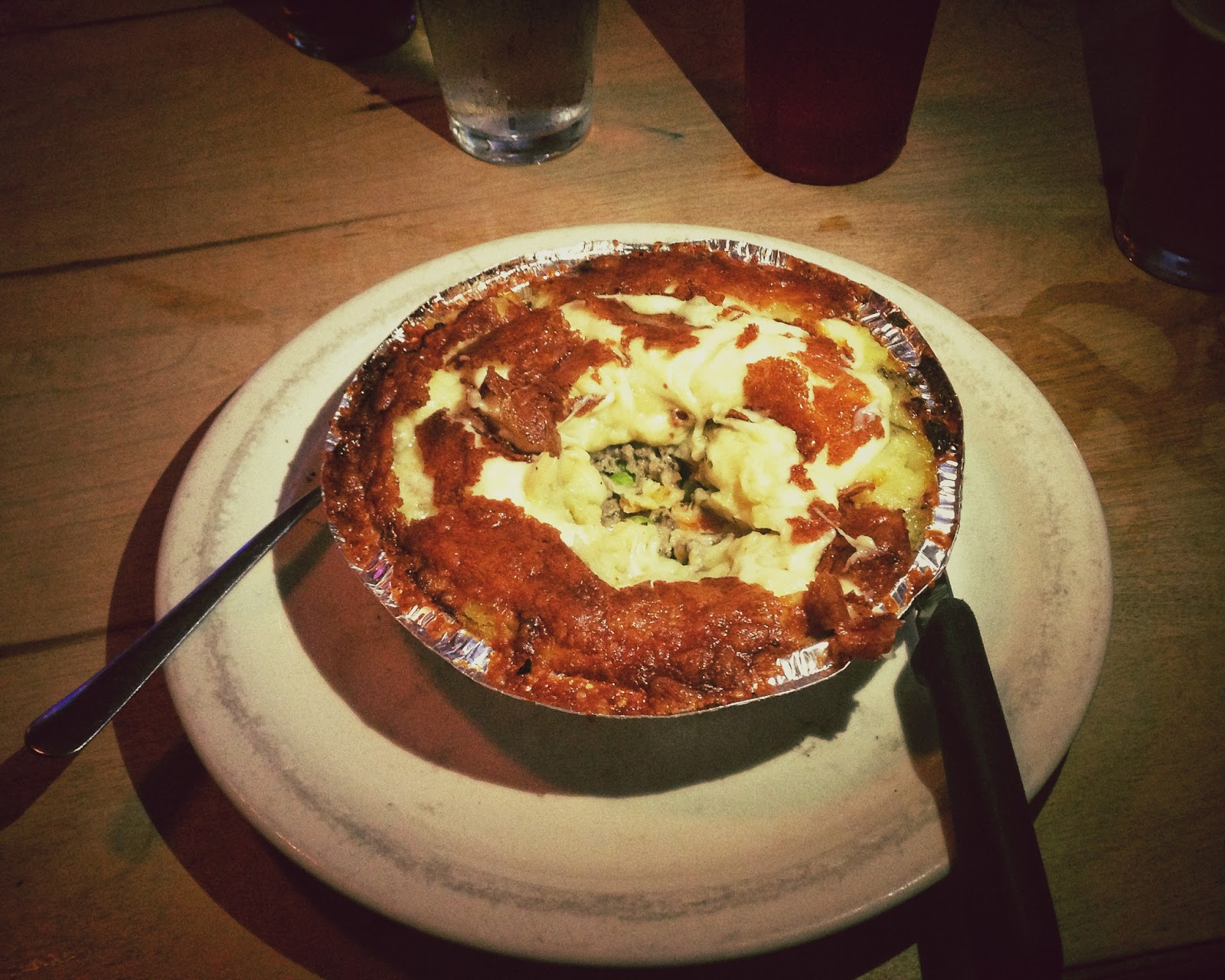 Shepard's Pie at Pint and Pie Night at the Family wash in Nashville Tennessee