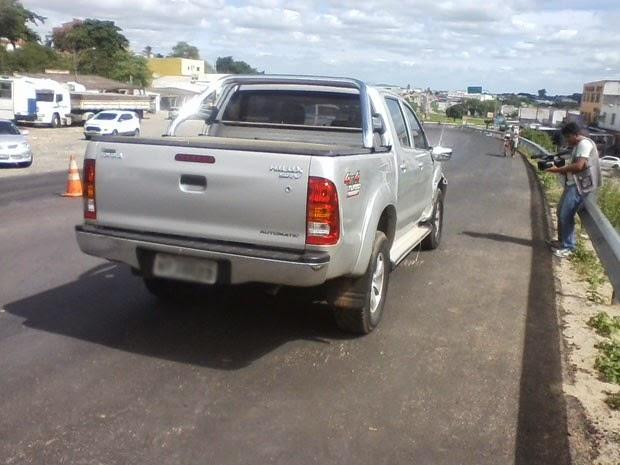 Acidente envolveu carro de juíza na cidade de Senhor do Bonfim (Foto: Jeorge Katatau/Arquivo Pessoal)