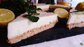 Tarta de limón con leche condensada
