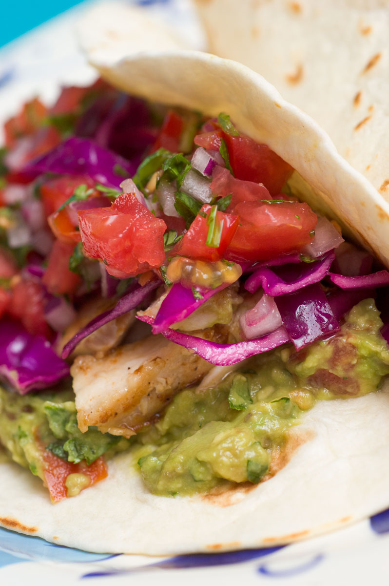 Sugar spice by celeste fish tacos with pan seared mahi mahi for Fish burrito recipe