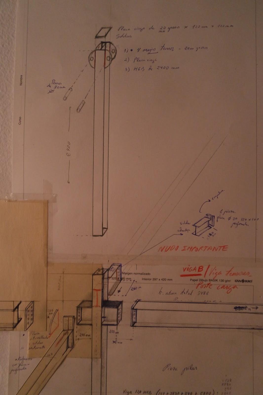 Mis dibujos a partir de los planos entregados por arquitecto