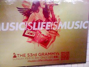 Grammy Award QR code ad