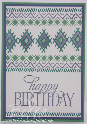 Bohemian Boarders Wimbledon Inspired Card - check this blog for lots of inspiring ideas