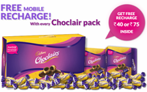 Buy Cadbury Choclairs and get free mobile recharge