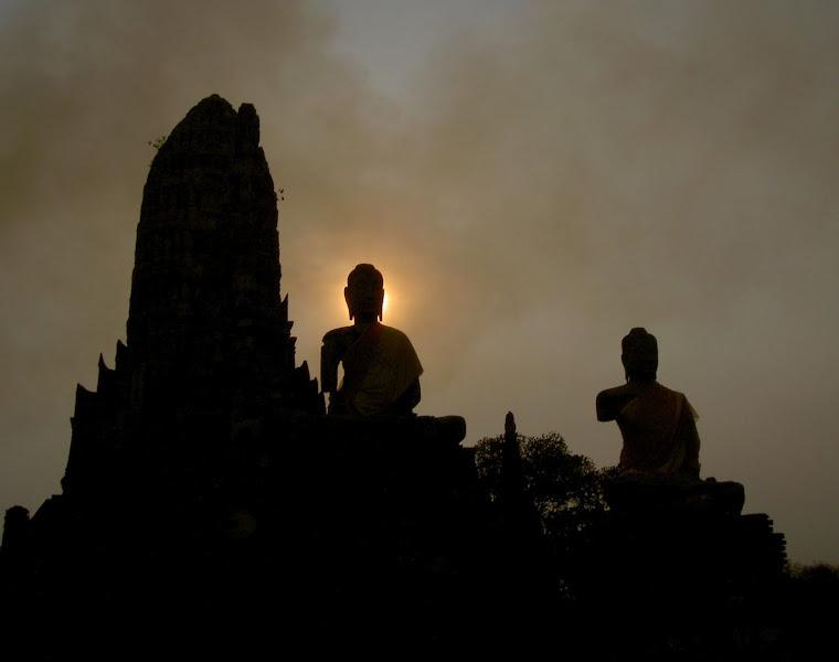 Ayutthaya Buddha Sunset