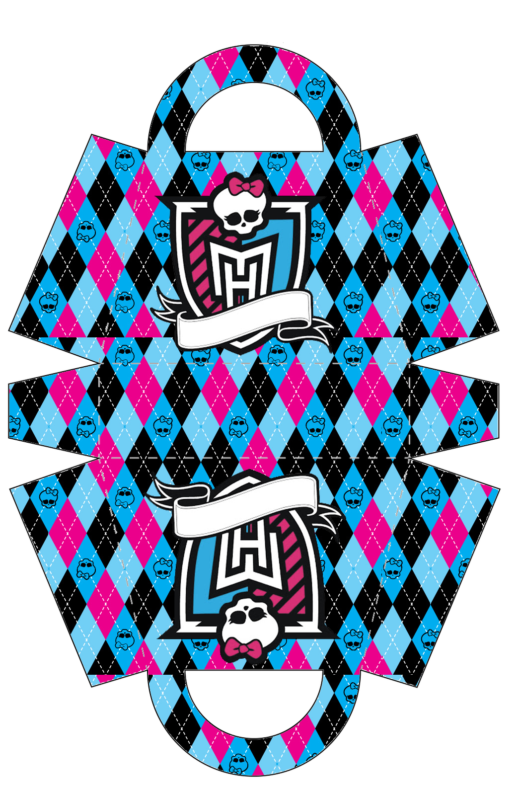 Monster High: Bolso para Imprimir Gratis.