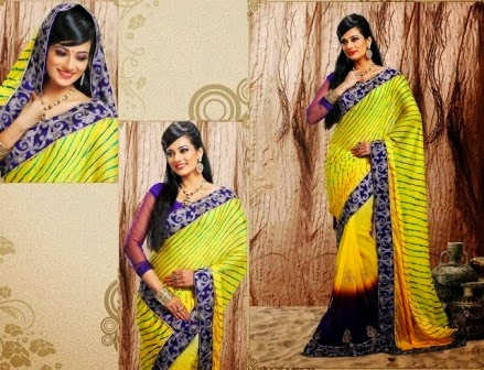 Embroidered Bridal Indian Sarees