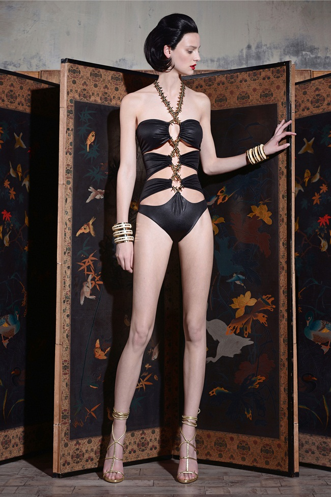 Dsquared2 2015 Resort Cutouts Swimsuit Lookbook
