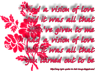 Vision Of Love - Mariah Carey Song Lyric Quote in Text Image