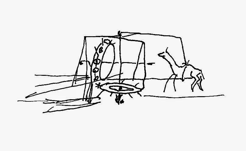 Drawing by Ralph Kleinschmidt, 1945