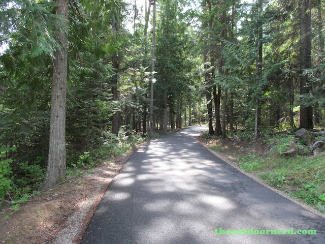 Outlet Campgrounds At Priest Lake, Idaho: Narrow Road