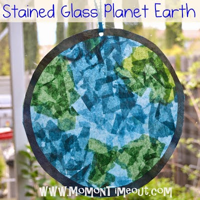 Stained Glass Planet Earth from Mom on Timeout