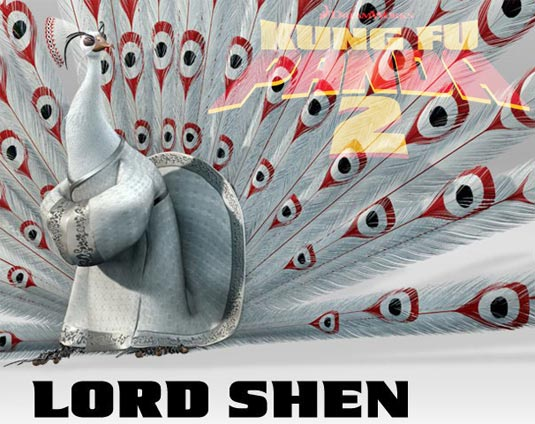 Lord Shen in Kung Fu Panda 2 movieloversreviews.blogspot.com