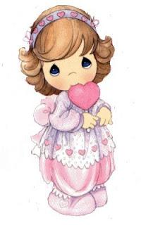 Niña con corazon  preciosos momentos enamorados