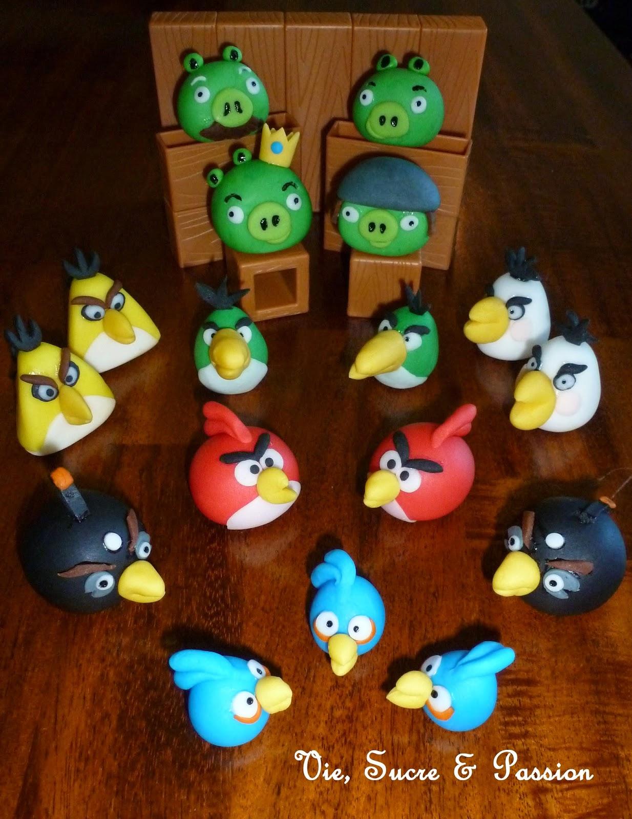 Edible Fondant Angry Birds