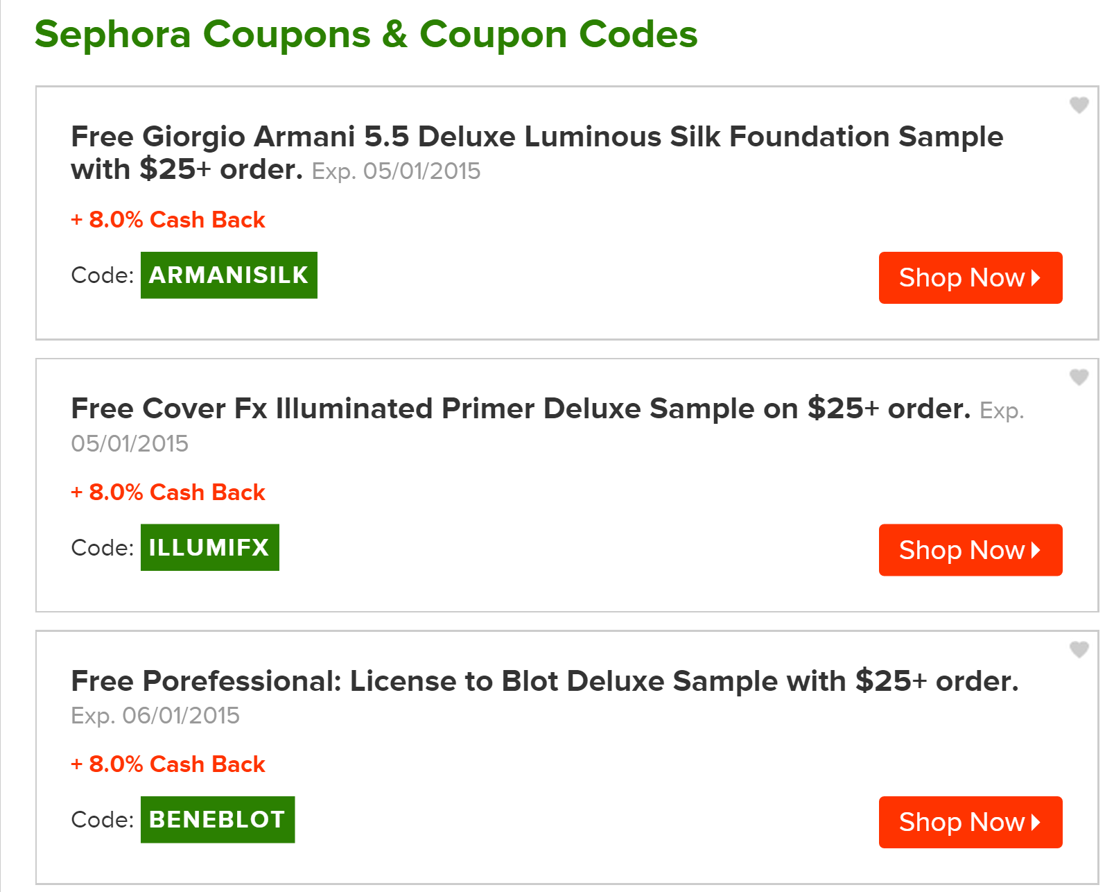 They also offer a bunch of coupon codes for each retailer so it s always a good idea to stop at ebates first before you buy anything