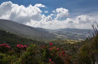 En la ascensión hacia las lagunas se pueden disfrutar hermosas vistas del Valle de Guasca