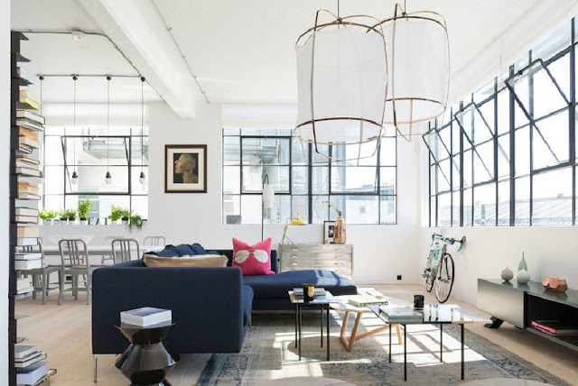 Loft appartement style industriel interior design - Decoration loft industriel ...